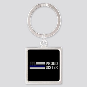 Police: Proud Sister Square Keychain