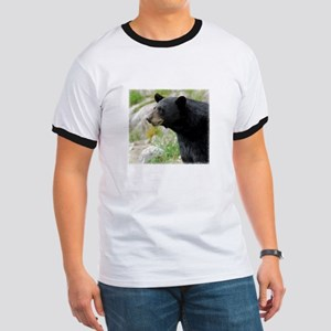 Definition Black Bear Face Ringer T