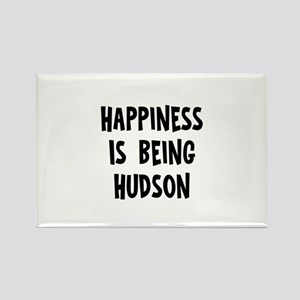 Happiness is being Hudson Rectangle Magnet