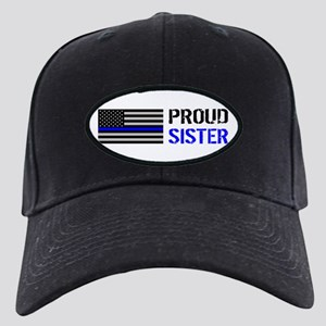 Police: Proud Sister Black Cap with Patch