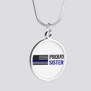 Police: Proud Sister Silver Round Necklace