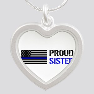 Police: Proud Sister Silver Heart Necklace