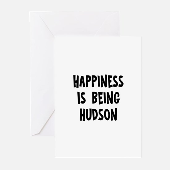 Happiness is being Hudson Greeting Cards (Pk of 10