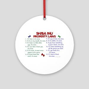 Shiba Inu Property Laws 2 Ornament (Round)