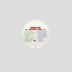 Shiba Inu Property Laws 2 Mini Button
