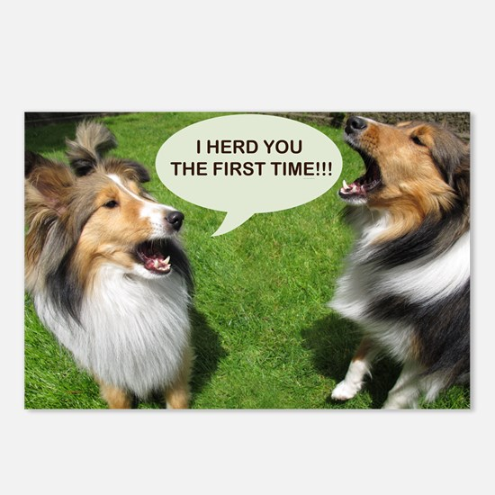 I HERD YOU THE FIRST TIME!!! Postcards (Package of
