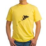 Eagle Fishing Yellow T-Shirt