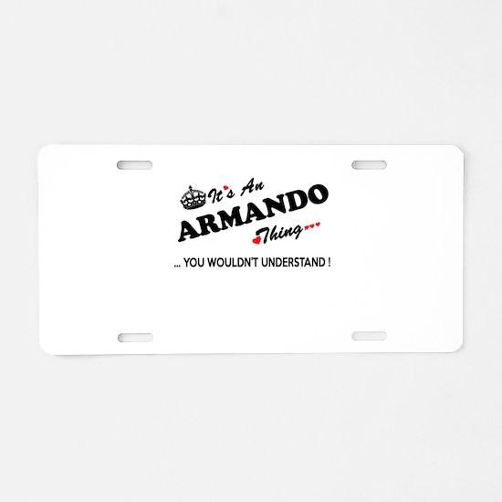 Unique Armando Aluminum License Plate
