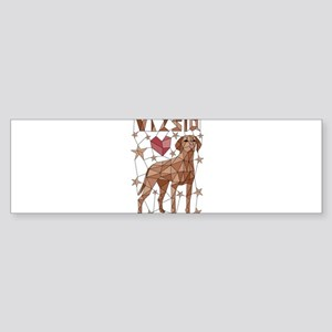 Geometric Vizsla Bumper Sticker