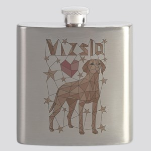 Geometric Vizsla Flask