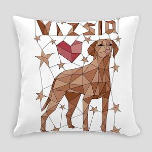 Geometric Vizsla Everyday Pillow