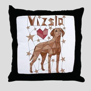 Geometric Vizsla Throw Pillow