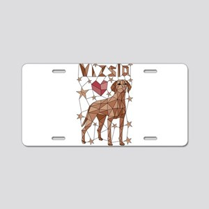 Geometric Vizsla Aluminum License Plate