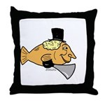 Silly Fish Throw Pillow