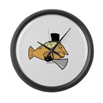 Silly Fish Large Wall Clock
