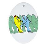 Fresh Fish Oval Ornament