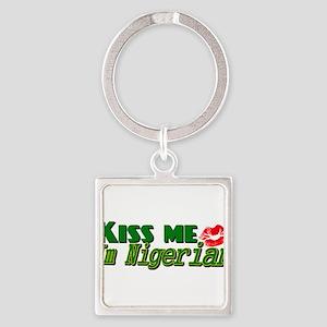 Kiss me im nigerian Keychains
