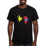 Clash Fish Men's Fitted T-Shirt (dark)