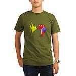 Clash Fish Organic Men's T-Shirt (dark)