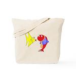 Clash Fish Tote Bag
