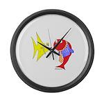 Clash Fish Large Wall Clock