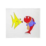 Clash Fish Throw Blanket