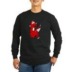Fox Tail Long Sleeve Dark T-Shirt