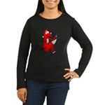 Fox Tail Women's Long Sleeve Dark T-Shirt