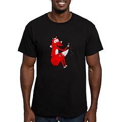 Fox Tail Men's Fitted T-Shirt (dark)