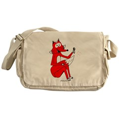 Fox Tail Messenger Bag