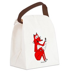 Fox Tail Canvas Lunch Bag