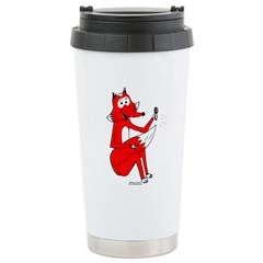 Fox Tail Stainless Steel Travel Mug
