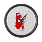 Fox Tail Large Wall Clock