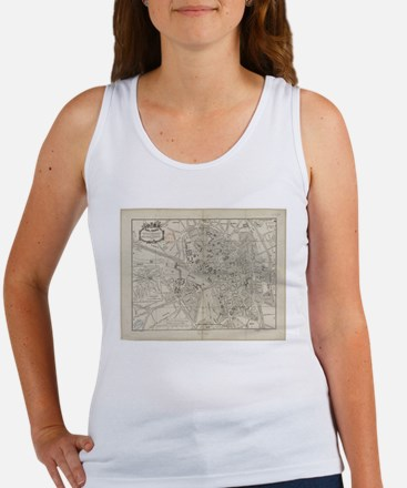 Vintage Map of Toulouse France (1844) Tank Top