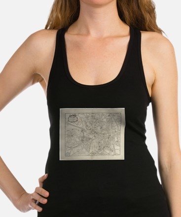 Vintage Map of Toulouse France Racerback Tank Top