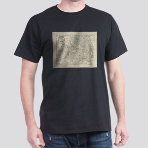 Vintage Map of Toulouse France (1844) T-Shirt
