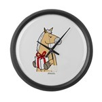 Gift Horse Large Wall Clock