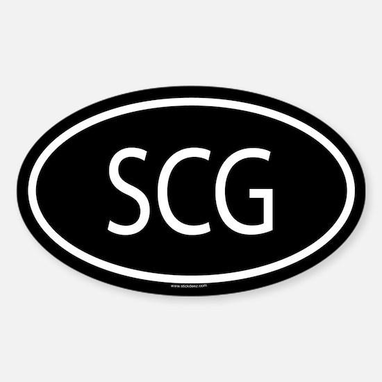SCG Oval Decal