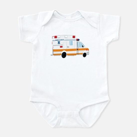 Cute Ambulance Infant Body Suit