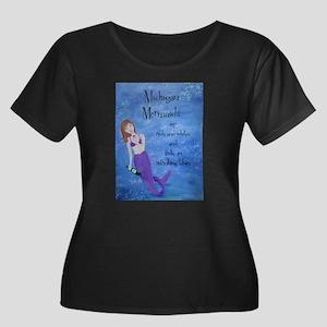 Michigan Mermaids wine Plus Size T-Shirt
