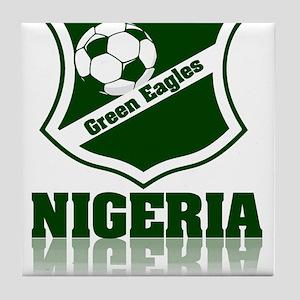 Nigerian Green Eagles Tile Coaster