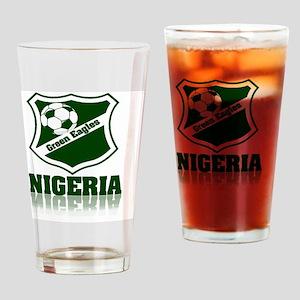 Nigerian Green Eagles Drinking Glass