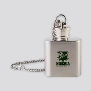 Nigerian Green Eagles Flask Necklace