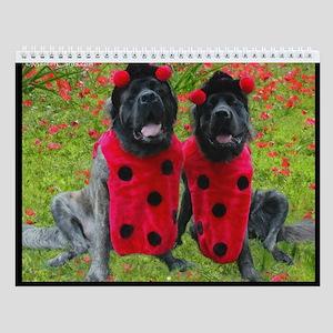 Mastiff Masquerade Wall Calendar