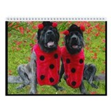 Brindle mastiff Wall Calendars