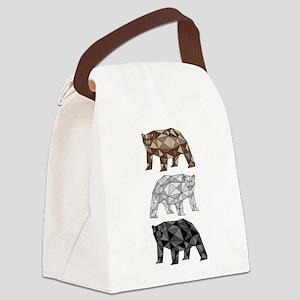 Geometric Bears Canvas Lunch Bag