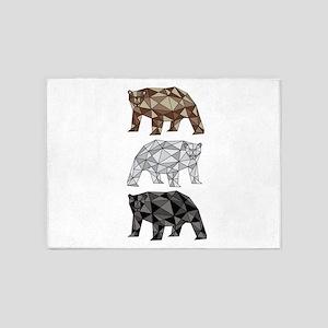 Geometric Bears 5'x7'Area Rug