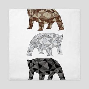 Geometric Bears Queen Duvet