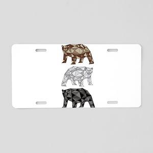 Geometric Bears Aluminum License Plate
