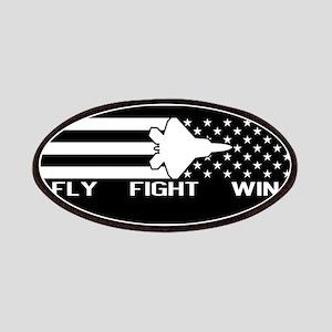 U.S. Military: F-22 - Fly Fight Win (Black F Patch